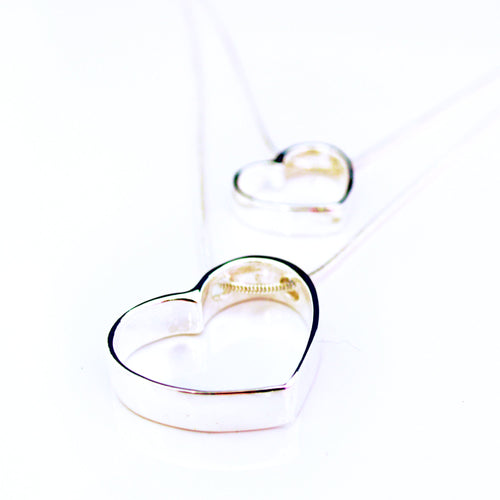 Linked Hearts Sterling Silver Double Necklace