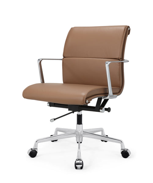 Enjoyable M347 Office Chair In Italian Leather Polished Aluminum Tan Download Free Architecture Designs Scobabritishbridgeorg