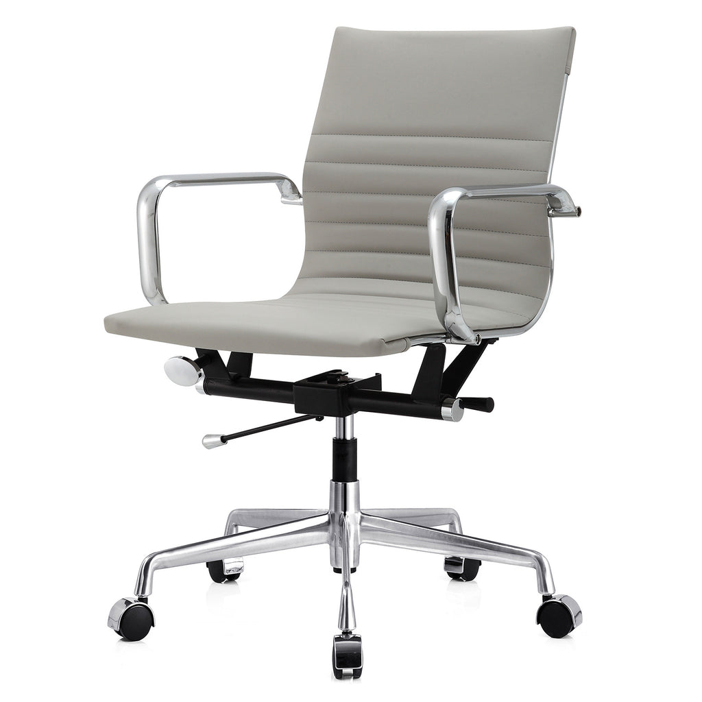 Office Chair In Vegan Leather Color Options - Grey office chair