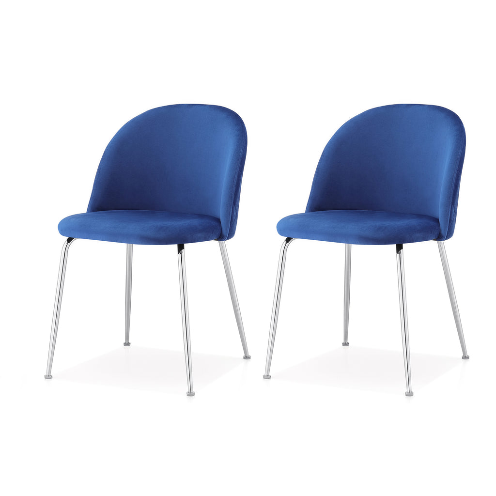 M60 Chair, Chrome Finish, Set of Two