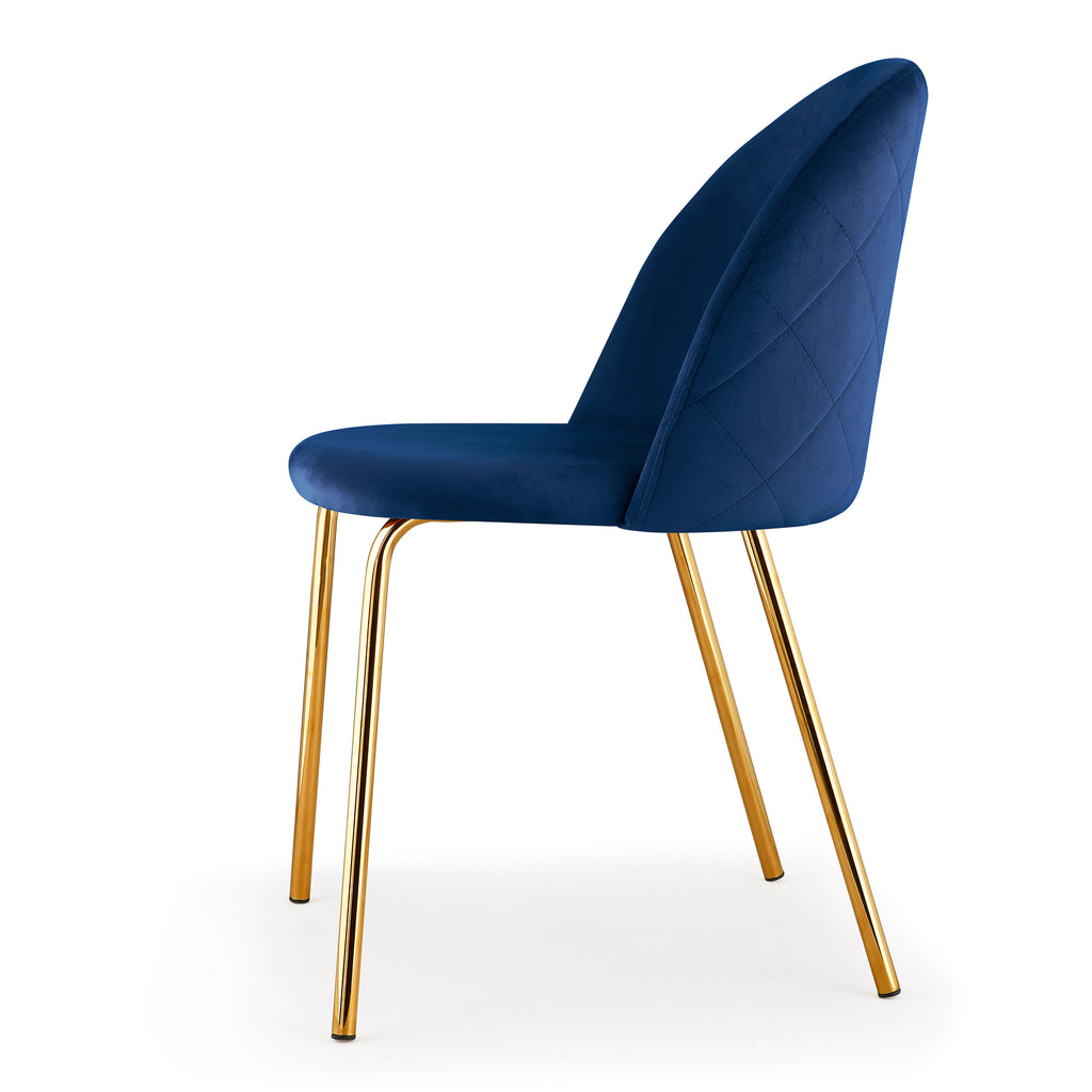 M60 Chair, Gold Finish, Set of Two