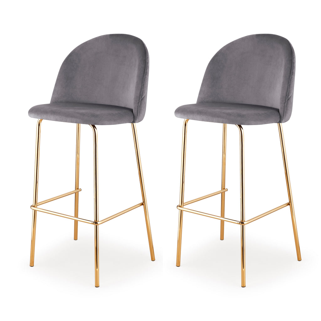 M61 Barstool, Gold Finish, Set of Two