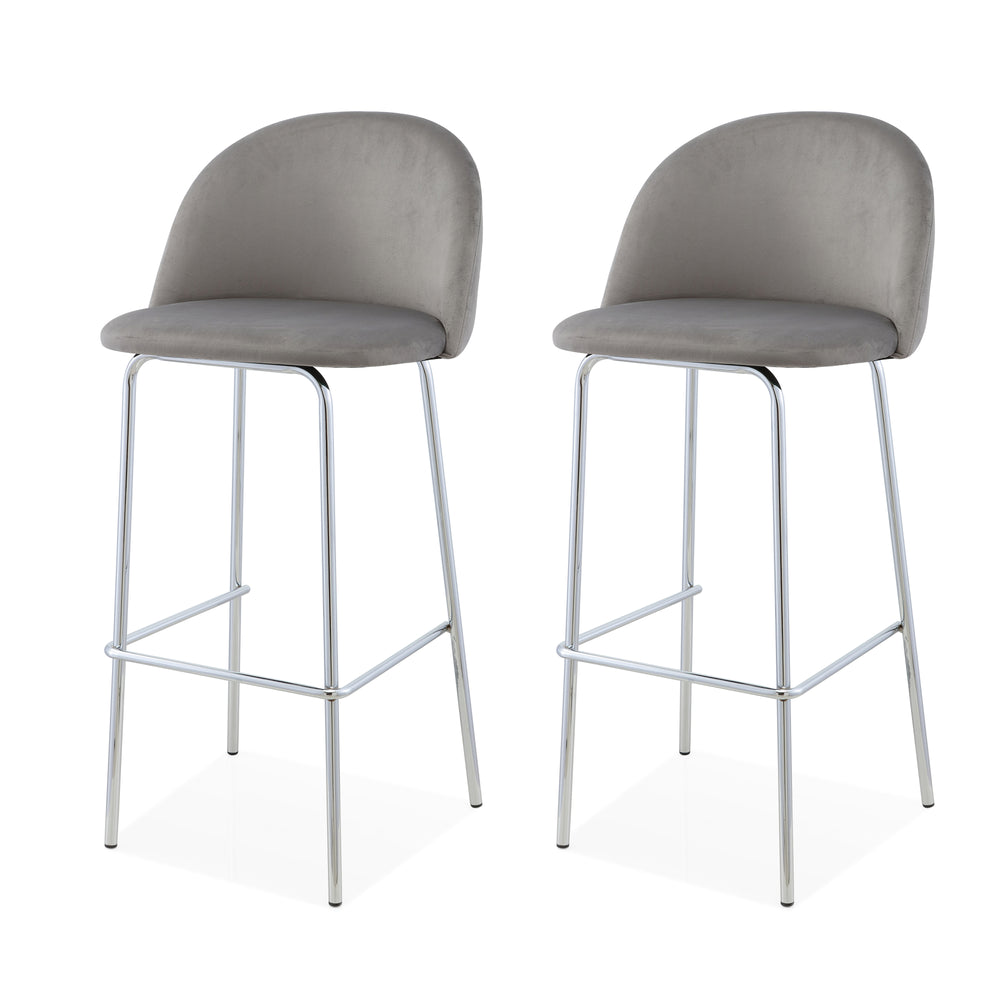 M61 Barstool, Chrome Finish, Set of Two