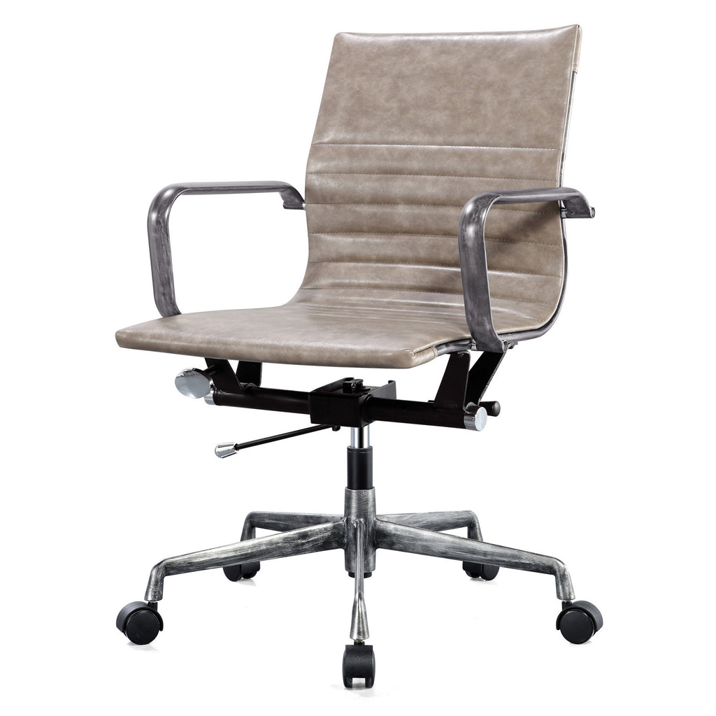 M348 distressed office chair vintage light grey