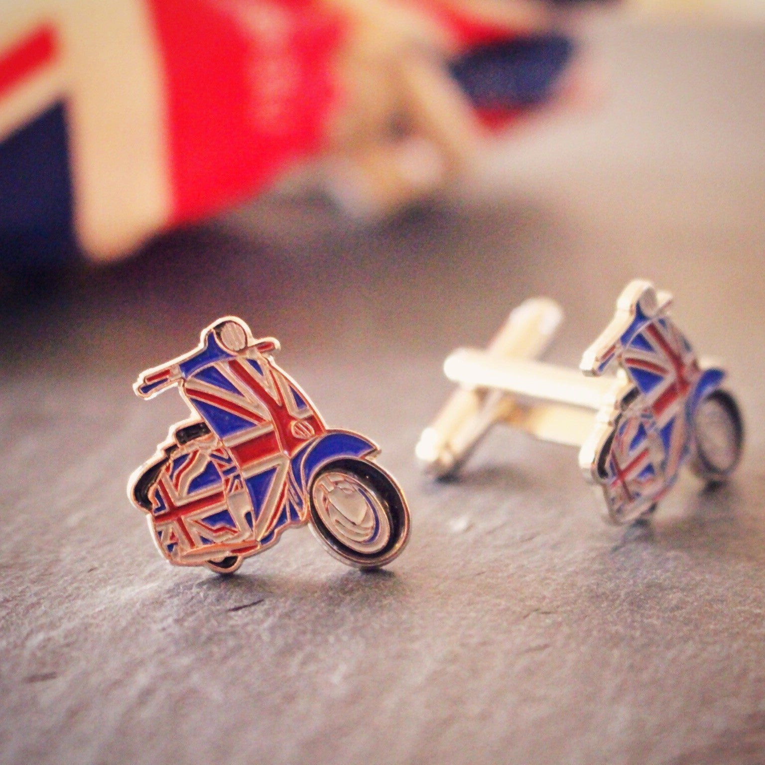 British scooter cufflinks