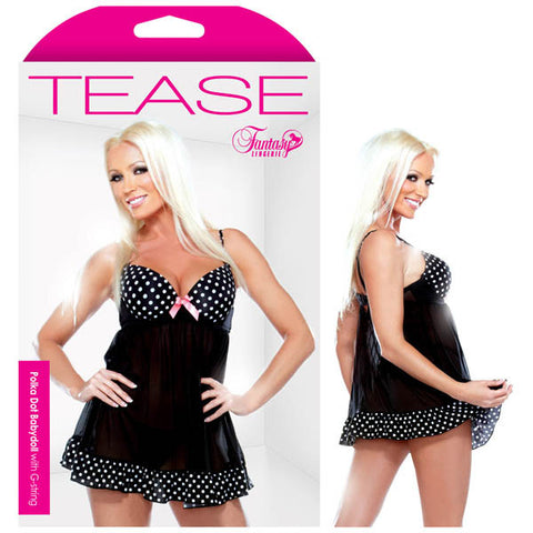 Picture of Tease Polka Dot Babydoll With G-String