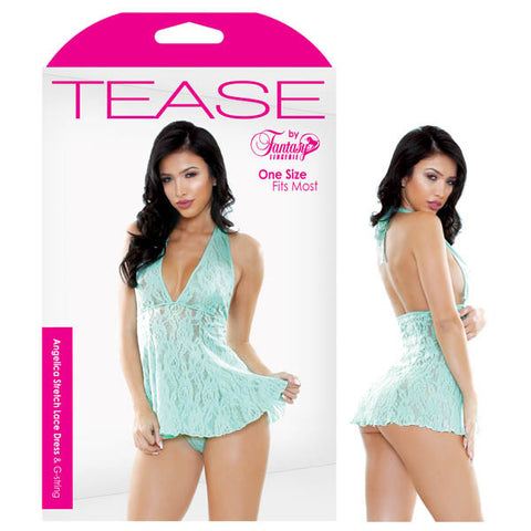 Picture of Tease Angelica Stretch Lace Dress & G-String