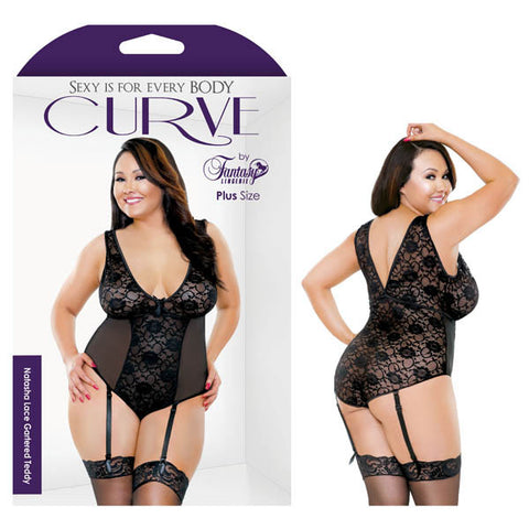 Picture of CURVE NATASHA LACE GARTERED TEDDY