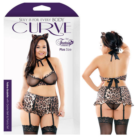 Picture of FELINE BRALETTE WITH GARTER BELT & PANTY SET