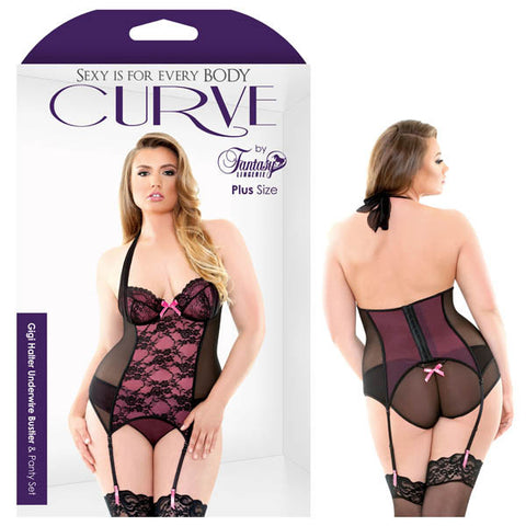 Picture of CURVE GIGI HALTER UNDERWIRE BUSTIER & PANTY SET