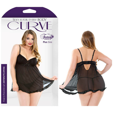 Picture of CURVE SHIRRED CUP BABYDOLL WITH MATCHING G-STRING
