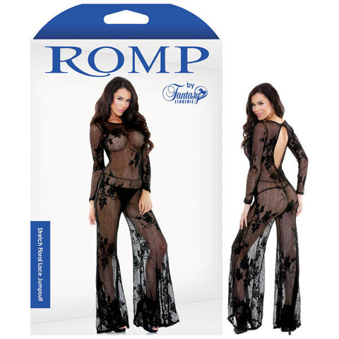 Picture of ROMP STRETCH FLORAL LACE JUMPSUIT
