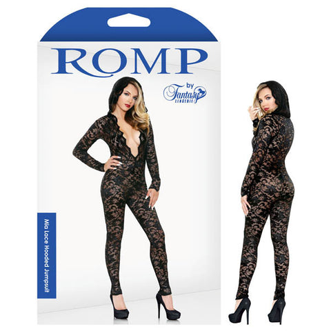 Picture of ROMP MIA LACE HOODED JUMPSUIT