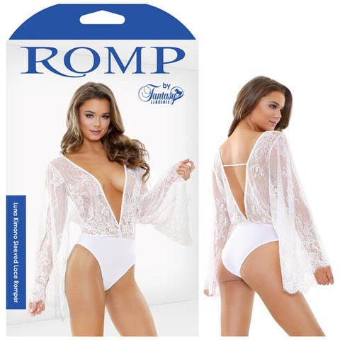 Picture of Romp Luna Kimono Sleeved Lace Romper
