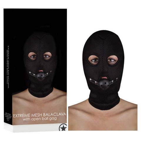 Picture of Ouch! Extreme Mesh Balaclava With Open Ball Gag