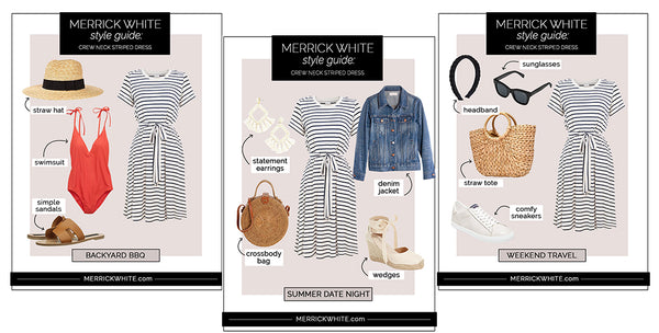 5 Ways to Wear The MW Striped Dress
