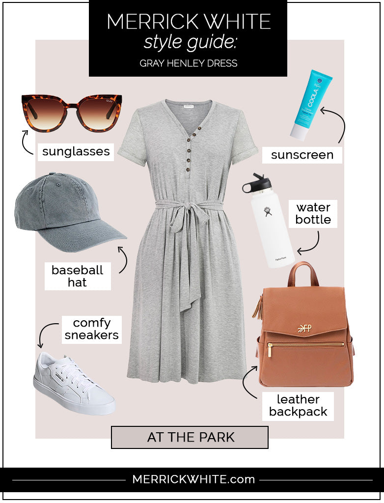 gray henley dress styling ideas
