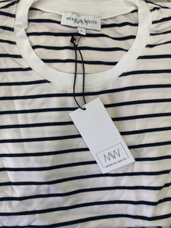 FACTORY DEFECT - MW Anywhere Striped Crew Neck Dress