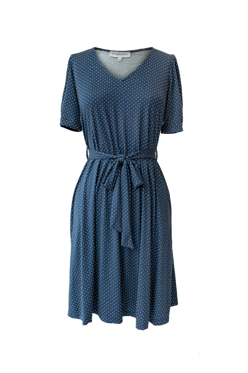 MW Anywhere Navy Polka Dot Dress