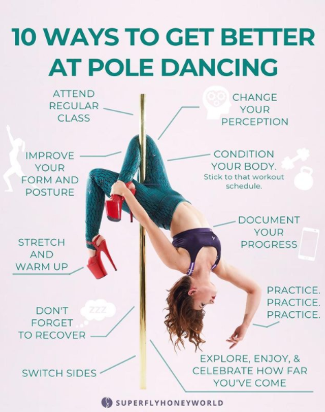 10 Ways to Get Better at Pole Dancing
