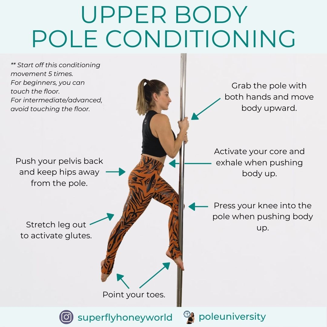 Pole Trick Tutorial Upper Body Pole Conditioning Fitnesss Exercise