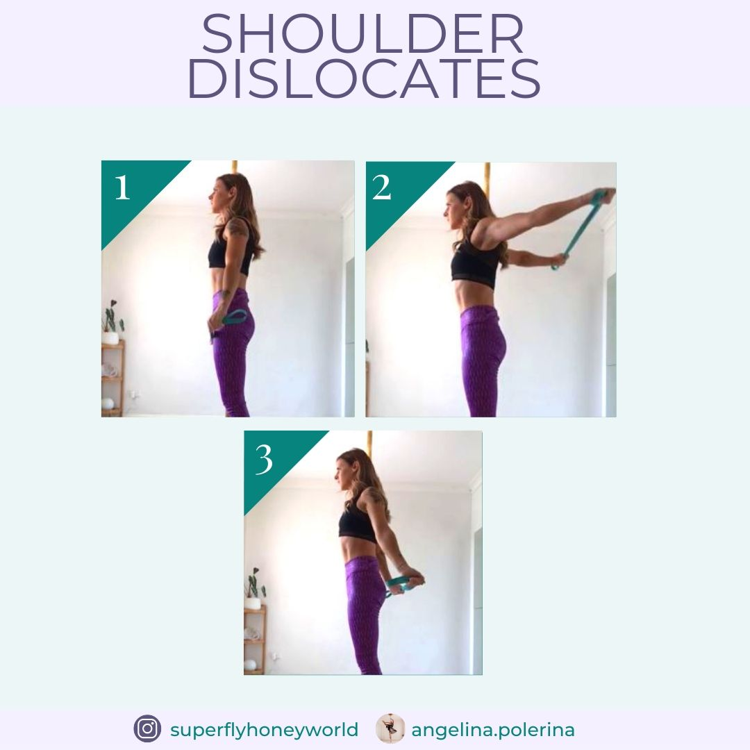 Pole Fitness Exercise: Shoulder Dislocates