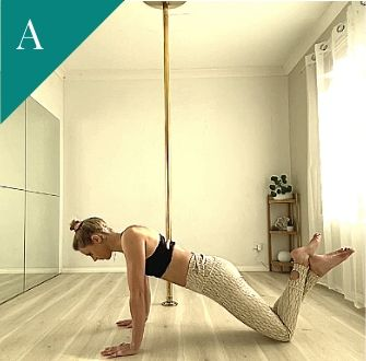 Pole Fitness Exercise: Scapular Push Ups