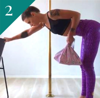 Pole Fitness Exercise: Single Arm Rows
