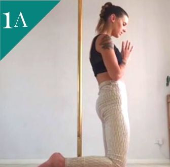 Pole Fitness Exercise: Kneeling Back Extensions