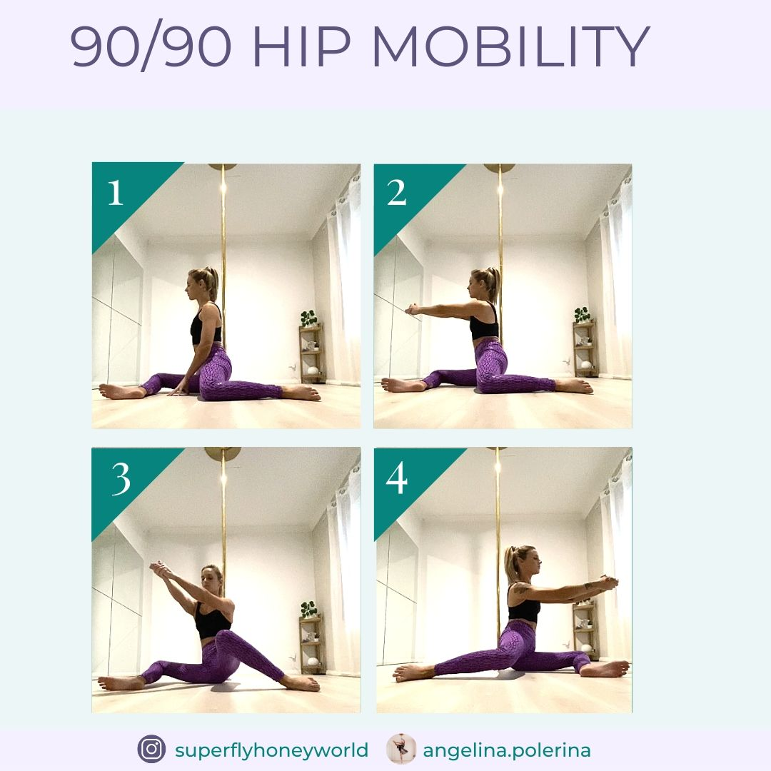 Pole Fitness Exercise: 90/90 Hip Mobility