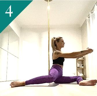 Pole Fitness Exercise: 90/90 Hip Mobility Exercise