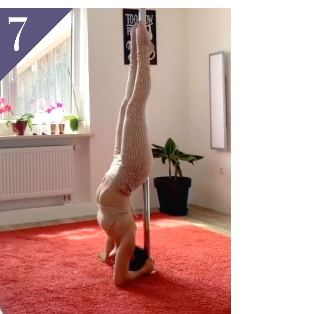 Russian Layback Elbow Stand Pole Trick and Russian Layback Handstand Pole Trick