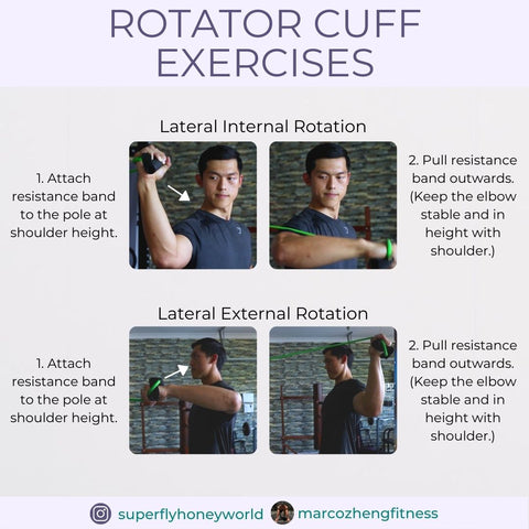 Lateral Internal and External Rotator Cuff Exercise