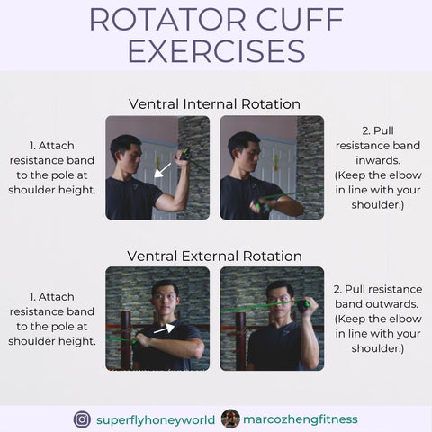 Ventral Internal and External Rotator Cuff Exercise