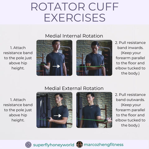 Medial Internal and External Rotator Cuff Exercise