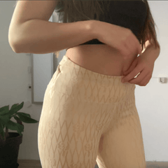 ivory grippy leggings