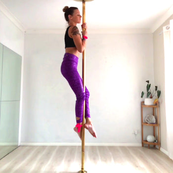 Pole Trick Tutorial: Vertical Pole Split (Beginner/ Intermediate Trick)