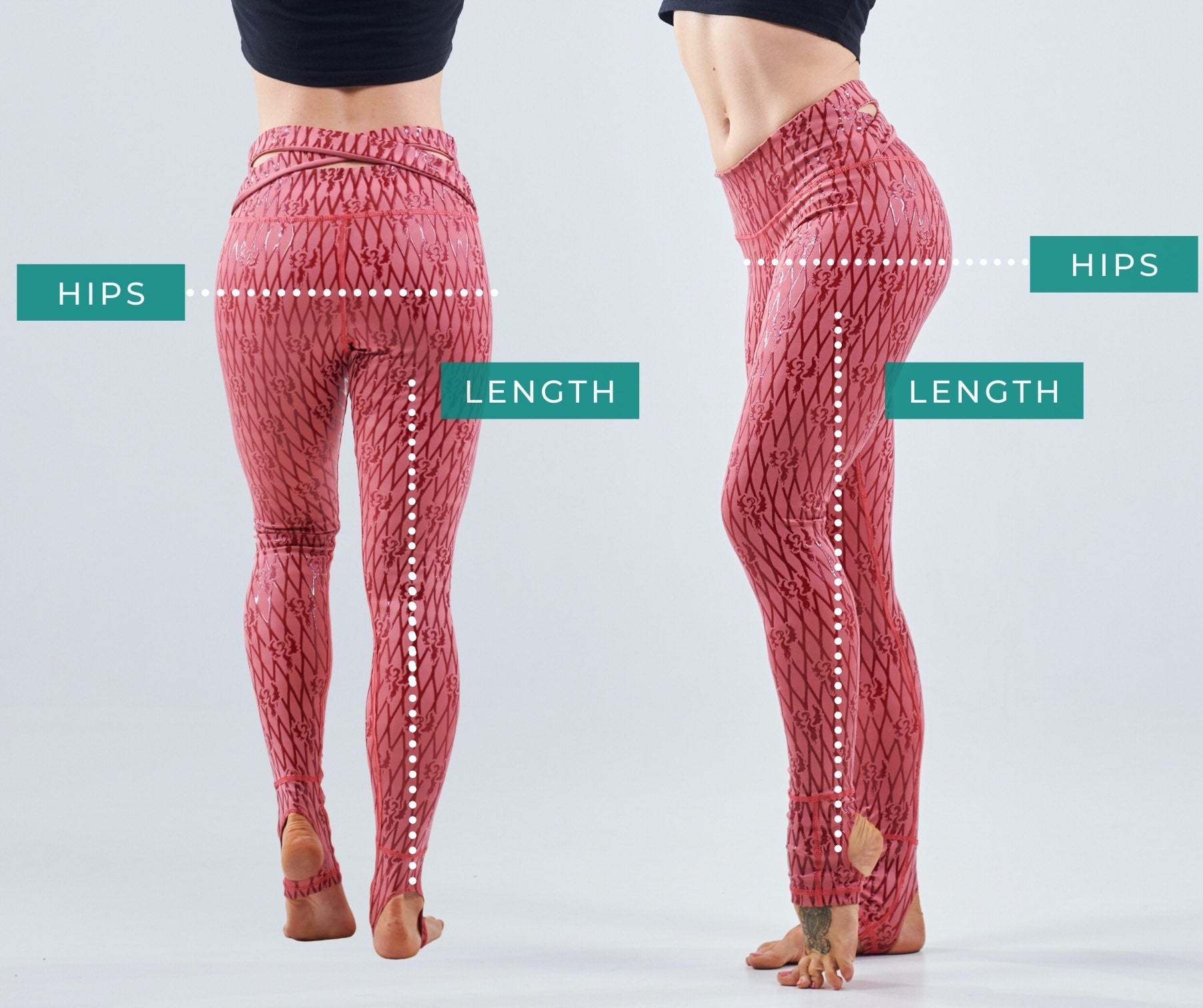 Sticky Leggings Measurement Guide