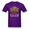 Sloth Hiking Team Unisex T-Shirt - purple