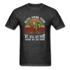 Sloth Hiking Team Unisex T-Shirt - heather black