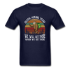 Sloth Hiking Team Unisex T-Shirt - navy