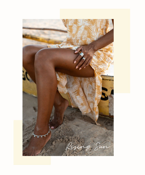 Rising sun anklet by Embella Jewellery