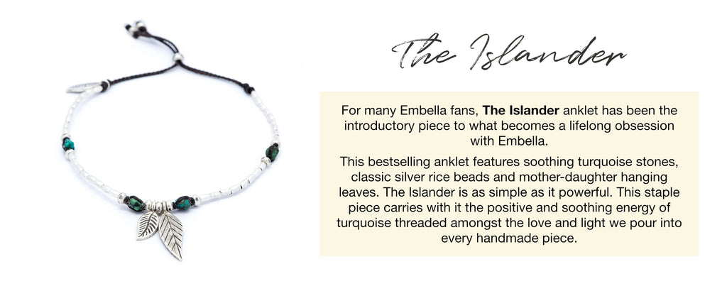 The Islander Anklet by Embella Jewellery
