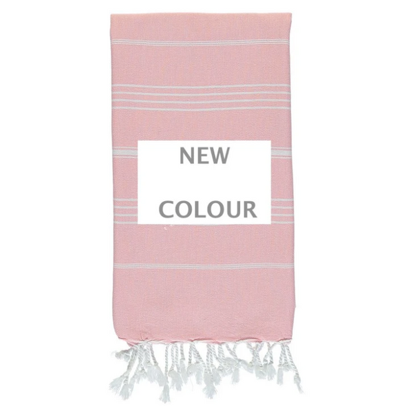 Knotty Original Turkish Towel - Peony Pink