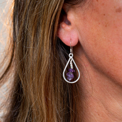 Dewdrop with Amethyst