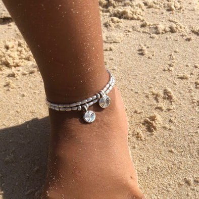 Kids Spiral of Life - Anklet or Bracelet with Adjustable Link Chain