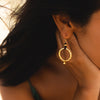 Golden Pacific Ring Earring