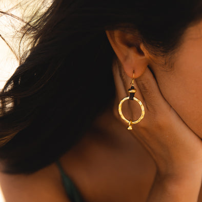 Golden Pacific Ring Earrings