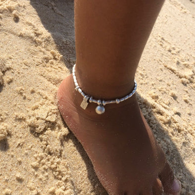 Kids Castaway - Anklet or Bracelet with Adjustable Link Chain