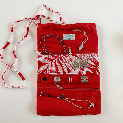 Jewellery Bag - Tropical Days Red